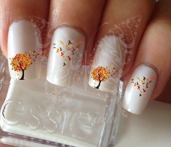 Осенний маникюр - двадцать идей дизайна ногтей на осень