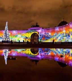 На здании Эрмитажа покажут новогоднюю сказку  c 26 по 30 декабря