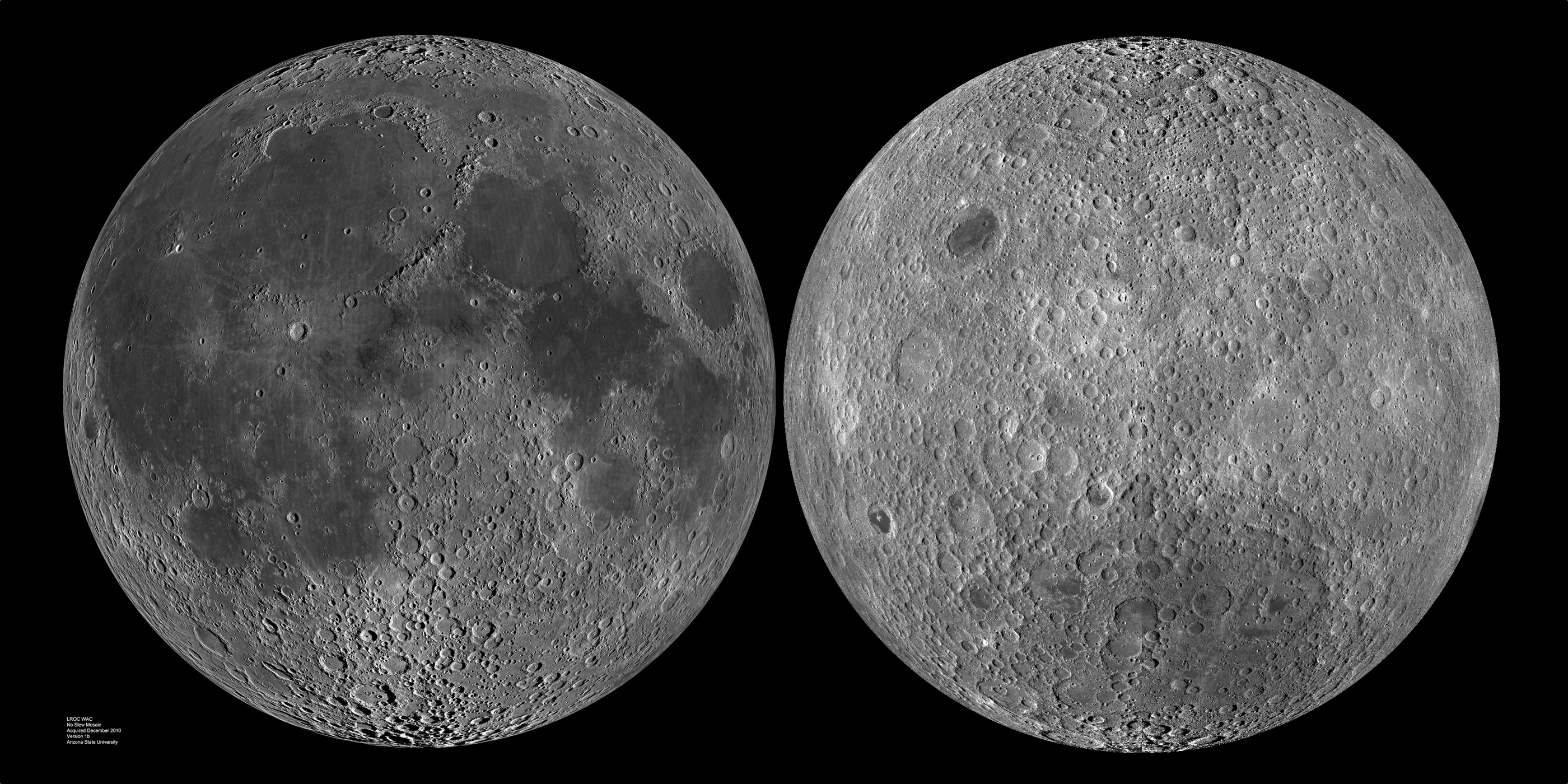 обе стороны луны
