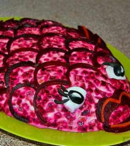 Скумбрия под шубой — необычный салат | Пошаговый рецепт с фото