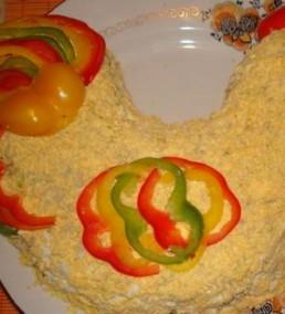 Красивый салат в тематике Нового года