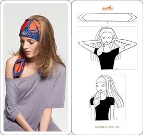 вариант платка на голове