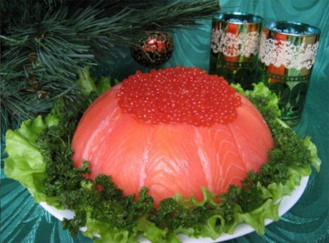рыбный салат-торт